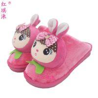 韩版卡通拖鞋 冬季 女可爱棉拖鞋 时尚居家拖鞋兔子动物女拖鞋