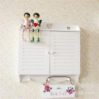 田园风格实木电表收纳箱 白色烤漆木质电表箱 定做室内装饰遮挡箱