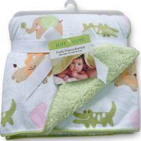 超柔短毛绒印花小毛毯 外贸童毯 双层婴儿毯子  新生儿毛毯 加厚