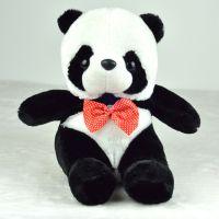 厂家值销 新款毛绒玩具 领结熊猫玩偶 地摊公仔 娃娃 可混装