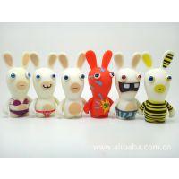 pvc公仔玩具,卡通动漫公仔,生肖玩具,雷曼疯兔公仔玩偶