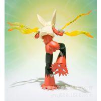 PVC塑胶公仔 宠物小精灵火焰鸡