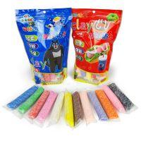 泥泥密探12色糖果包装彩泥太空泥轻泥3D彩泥套装超轻粘土0.13