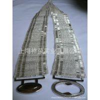 [厂家直销]玻璃珠串珠腰带 串珠腰带 米珠松紧腰带 手工珠编腰带