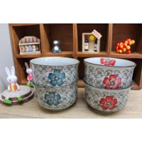 日式和风陶瓷手绘釉下彩4.5英寸反口面碗米饭碗汤碗餐具粥碗
