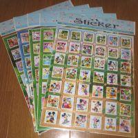 专业经销美观经济彩色pvc迪斯尼卡通纸贴邮票贴纸PVC贴纸