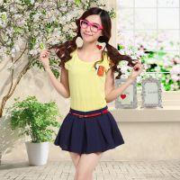 供应2014新款女装夏季韩版女t恤短袖女 修身百搭纯棉T恤女款打底衫