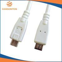 供应厂家生产白色HST-3005 USB2.0 micro5p to micro5p 白色优质数据线