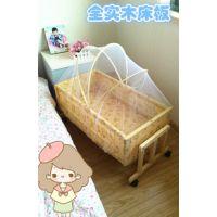 批发实木环保无漆婴儿床 宝宝摇篮 新生儿礼品 摇床 送蚊帐