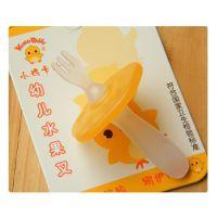 小鸡卡迪KD3044 幼儿安全水果叉宝宝叉子婴儿餐具不再用牙签