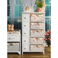 出口批发~韩式田园风格家具文件柜~10抽实木收纳柜储物柜斗柜