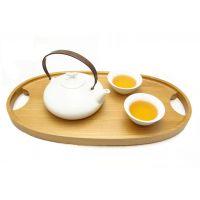 把手茶盘茶具托盘 水果点心盘 全实木 整体洗出造型 44.5*23*3CM