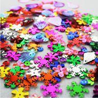 儿童早教玩具 幼儿园手工diy制作材料 约100片10克亮片 贴片珠片