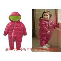 供应婴儿服爬服哈衣宝宝羽绒服秋冬装套装滑雪服婴儿连体衣冬季厚用品