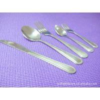 日韩不锈钢餐具套装 珠边手柄花纹 出口欧美 俄罗斯等国家餐厅