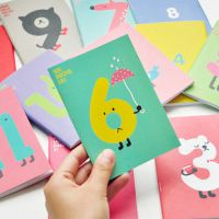 E306 韩国文具 可爱缤纷 幸运数字笔记本 记事本 小本子