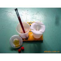 供应PP文具套装透明塑料洗颜杯