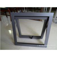 灰色铝合金上悬窗 通风防雨 广州铝合金门窗 多款式可定制