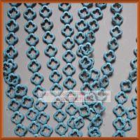 20mm镂空梅花形饰品配件/天然绿松石/diy隔珠散珠子首饰材料批发