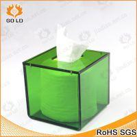 厂家定制透明有机玻璃方形纸巾盒  亚克力汽车卫生纸盒  车载纸盒