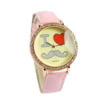 供应批发休闲情侣手表创意手表LOVE爱心手表超可爱的心形心形图案