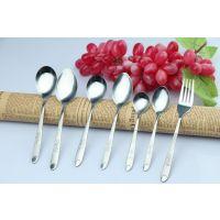 批发不锈钢2厘玫瑰花勺子 韩国 长柄勺子 可爱勺子 光身儿童汤匙