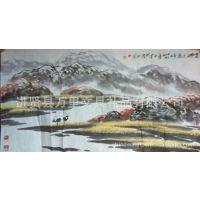 万里画廊销售白墨先生山水作品 精品山水画 代理国内名家书画
