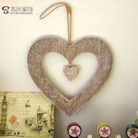 创意zakka 杂货创意家居摆件木质工艺品 木制饰品 爱心挂件 c5701