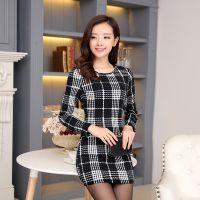 韩国代购2014秋冬新款保暖 韩版加厚加绒中长款T恤打底衫女
