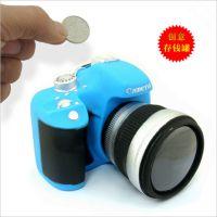 Canon创意仿真搪胶单反相机储钱罐存钱罐 可拆分相机储蓄罐7092