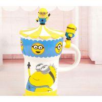 一优 正品小黄人大头陶瓷杯子 超级奶爸创意杯子 马克杯 批发