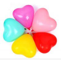 厂家批发 7寸小心型气球 珠光色心形气球 爱心形气球 200装