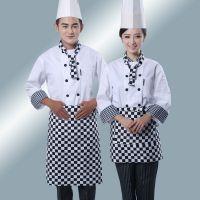 厨师服 长袖 酒店饭店餐厅厨师服 厨房工作服 男女厨师工作服