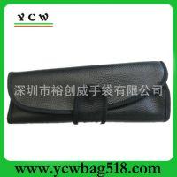 深圳龙岗手袋 工厂订做 时尚PU女式包 高档 黑色化妆包 出口欧美