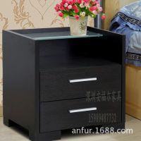 厂家直销2门推拉式实木床头柜 酒店客房家具床头柜订做床头柜价格