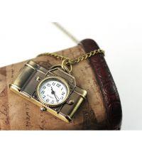 古铜挂表钥匙扣表复古表装饰挂件表项链表 相机卡通表时尚款