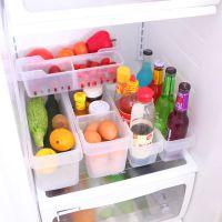 冰箱收纳盒 透明塑料加厚无盖冰箱整理收纳盒 冷藏收纳篮