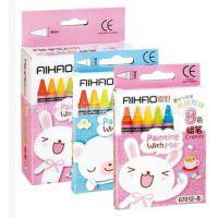 爱好67012-8色12色24色48色64色布绒娃娃儿童绘画蜡笔环保无毒