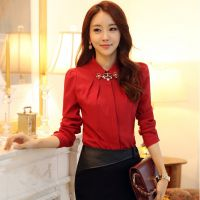 2013秋装新款韩版女装修身加厚长袖衬衫打底衫
