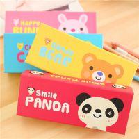 C077 日韩国创意文具 卡通纸盒 多功能铅笔盒 文具盒桌面收纳大号