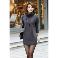 韩版秋冬女装 中长款针织打底衫 韩国女装针织衫毛衣 女士毛衣
