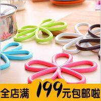 新款优质梅花形防烫隔热垫 防滑餐桌PVC锅垫杯垫碗垫