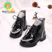 韩版女童加绒马丁靴童鞋童靴儿童闪钻公主靴中大童靴子短靴秋冬季