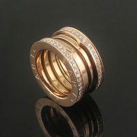 钛钢饰品批发 弹簧镶钻戒指 高品质满钻弹簧戒指 三色选 情侣对戒