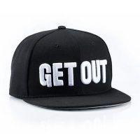 权志龙棒球帽平沿GETOUT街舞BBO嘻哈hiphop板帽潮男女可调节帽子