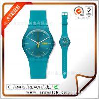 斯沃其新款 多色女士手表 透明塑胶儿童表 硅胶礼品表