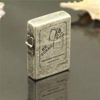 佐罗Z65041古银火机图 纯铜返古式外铰链高档煤油打火机