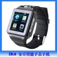 供应原厂正品安卓双核智能手表手机微信新款摄像拍照触屏腕带手表IK8