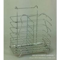 不锈钢筷子筒_方形双格筷子筒_熊猫 创意小巧实用 厂家自销