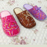 大量定制 女式拖鞋 可爱印花蝴蝶结 超柔软舒适家居鞋【图】